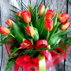 Bukiet 15 Czerwonych Tulipanów