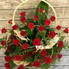 Kosz 30 Czerwonych Róż
