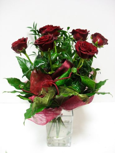 Bukiet  7 Bordowych Róż 1