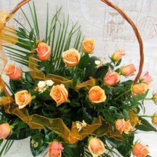 Kosz 20 Herbacianych Róż
