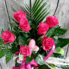 Bukiet 7 Różowych Róż