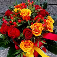 Bukiet Płomiennych Róż