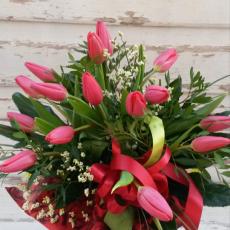 Bukiet  Tulipanów w Czerwieni