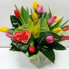 Bukiet 15 kolorowych Tulipanow 1