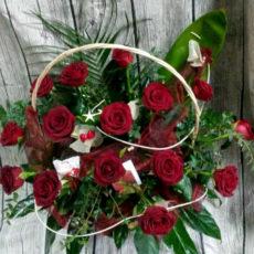 Walentynkowy Kosz Róż