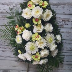 Wieniec Pogrzebowy 23 sztuczne kwiaty